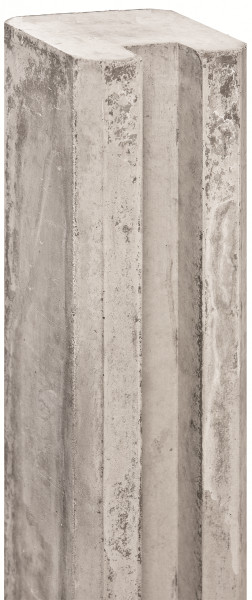 REBUS-Serie Schlitzpfosten 11,5 x 11,5 x 280 cm, weißgrau Endpfosten f. Beton/Holz # 1.54280E