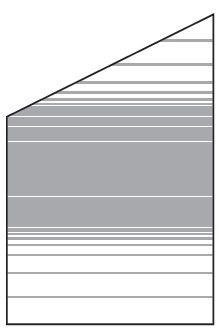 VETRO Glasscheibe ECKE links B 1200 x H 1200/1800 mm Streifen-Dekor 83, SATINATO #68310