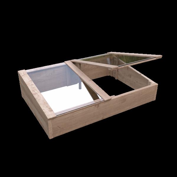 TONDERN-Frühbeet Lärche 119 x 80 x 21/30 cm vorgefertigte Elemente #61063