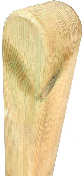 Pfosten Kopf gerundet,grün 7 x 7 x 190 cm, allseitig glatt