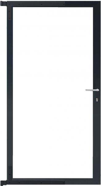 Universal-Torrahmen für Steckzaunserien ANTHRAZIT, 90 x 175 cm, Bausatz o. Füllung inkl. Beschlägen,