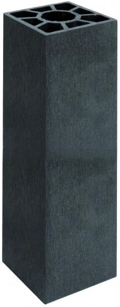 SHANGHAI-Serie Pfosten anthrazit 9 x 9 x 200 cm, WPC-Hohlkammerpfosten #KE50