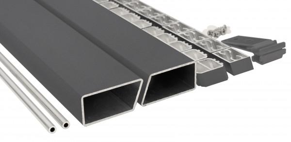 HANÖ-Serie Montageset ANTHRAZIT 20 x 75 x 1793 mm, inkl. Start- & Abschluss, Befestigung und Abstand