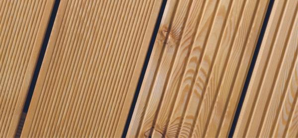 Terrassendiele Kombiprofil sib. Lärche 27 x 142 mm, 500 cm