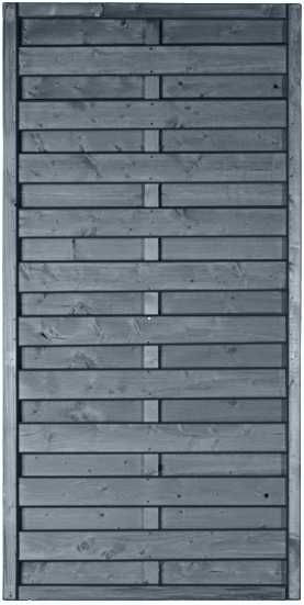 MOONLINE-Serie 90 x 180 cm Rahmen 45 x 45 mm, grau lasiert