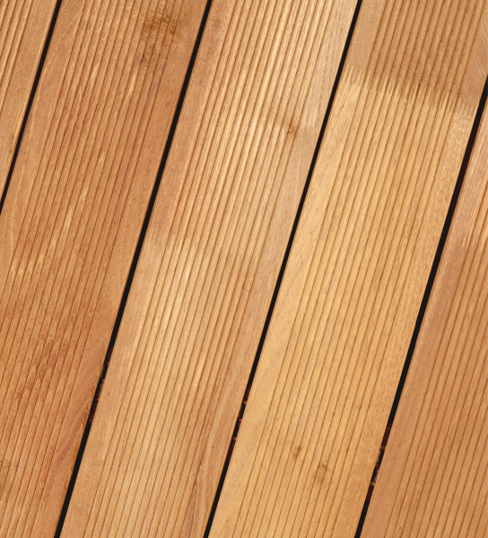 Terrassendiele Robinie 23 x 118 mm fein geriffelt, 500 cm