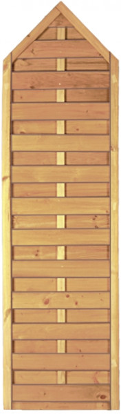 Sichtschutzzaun Maxi Massiv kdi Spitzelement 60 x 210/180 cm