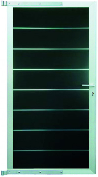 GOTLAND-Serie WPC-TOR 90 x 176 cm, inkl. Beschlag ANTHRAZIT / SILBER #NO55