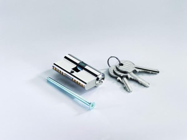 Profilzylinder 27/27 mm, inkl. 3 Schlüsseln