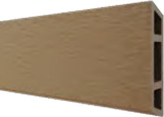 HANÖ-Serie KARAMEL BPC-Rhombus-Steckzaun-Set 7 Lamellen 20 x 75/68 x 1793 mm
