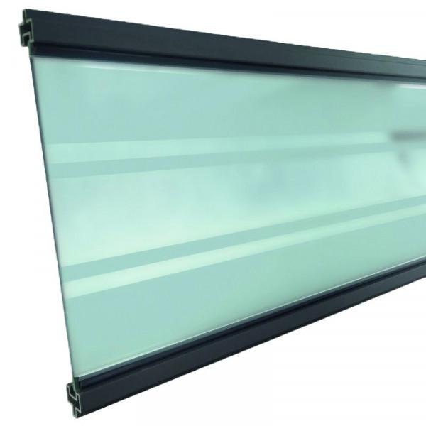 GOTLAND-Serie WPC-Steckzaunsystem Glasfüllung 6 x 206 x 1793 mm ANTHRAZIT #NO95