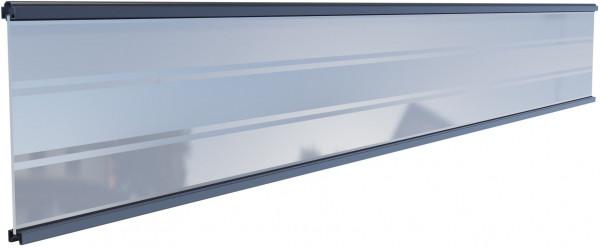TJÖRN-Serie WPC-Steckzaunsystem Glasfüllung, 6 x 206 x 1793 mm ANTHRAZIT