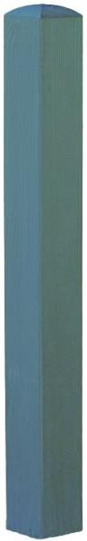 Pfosten mit Bischofsmütze 9 x 9 x 100 cm RAL 7015 Montanagrau