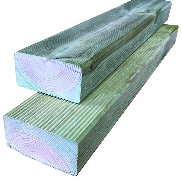 Konstruktionsholz grün 45 x 90 x 4000 mm einseitig geriffelt