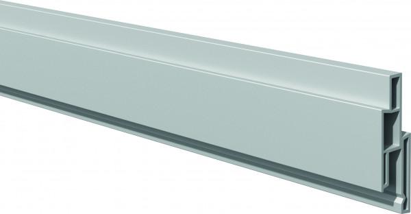 LIGHTLINE Steckzaunsystem Dekorleiste silbergrau 17 x 25 mm, Länge 180 cm