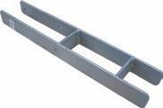 H-Pfostenträger 60 cm Stahl verzinkt für 9 x 9 cm Pfosten