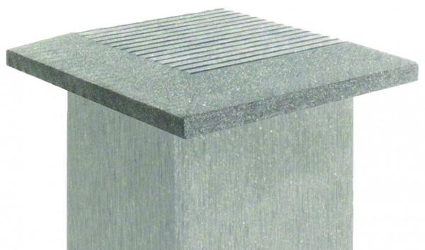 SHANGHAI-Serie Abdeckkappe silbergrau 12 x 12 cm, WPC-Pfostenkappe # KE140