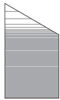 VETRO Glasscheibe ECKE rechts B 1030 x H 1800/1200 mm Streifen-Dekor 81, SATINATO #68109