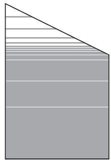 VETRO Glasscheibe ECKE rechts B 1200 x H 1800/1200 mm Streifen-Dekor 81, SATINATO #68111