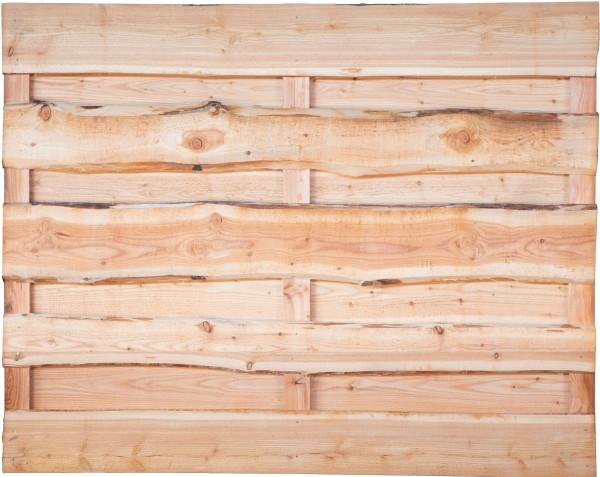 LOLLAND-Serie Lärche, 180 x 150 cm, Bretter sägerau, mit Baumkante 3 Riegel, drehbar