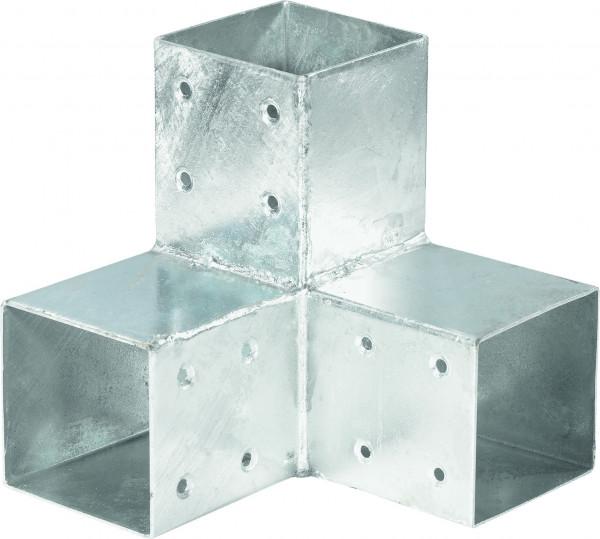 QUATRO-Steckverbinder Ecke zweifach, für 9 x 9 cm 20 x 20 x 20 cm