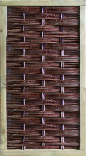 LABO-3D Weidengeflechtzaun 94 x 180 cm, geschlossen Rahmen 70 x 35 mm