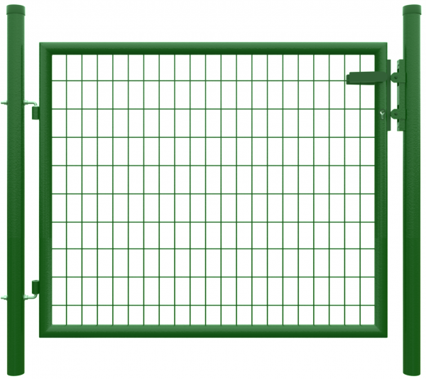 STRONG Einzeltor RAL 6005 GRÜN 1250 x 1000 mm inkl. Pfosten + Beschlägen, MW 50/100 mm 2 Torpfoste