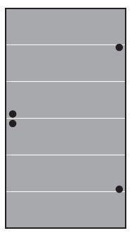 VETRO TÜR-Glasscheibe 987 x 1800 mm, DIN Rechts Streifen Dekor 82 SATINATO #68213