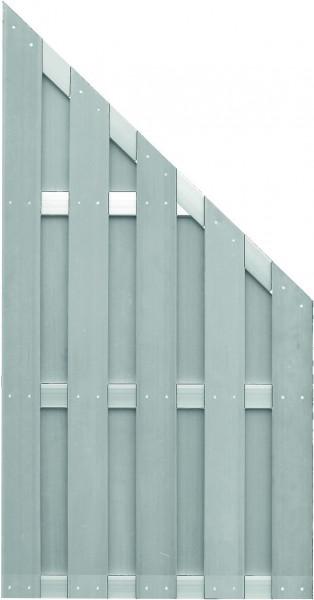 JINAN-Serie ECKE grau 90 x 180/90 cm, WPC-Bretterzaun Querriegel ALU anodisiert #0820198 GY