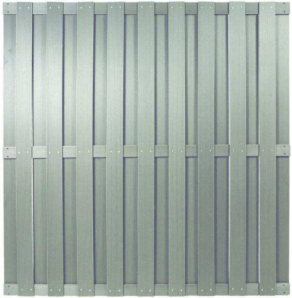 SHANGHAI-Serie silbergrau 180 x 180 cm, WPC-Bretterzaun # KE105