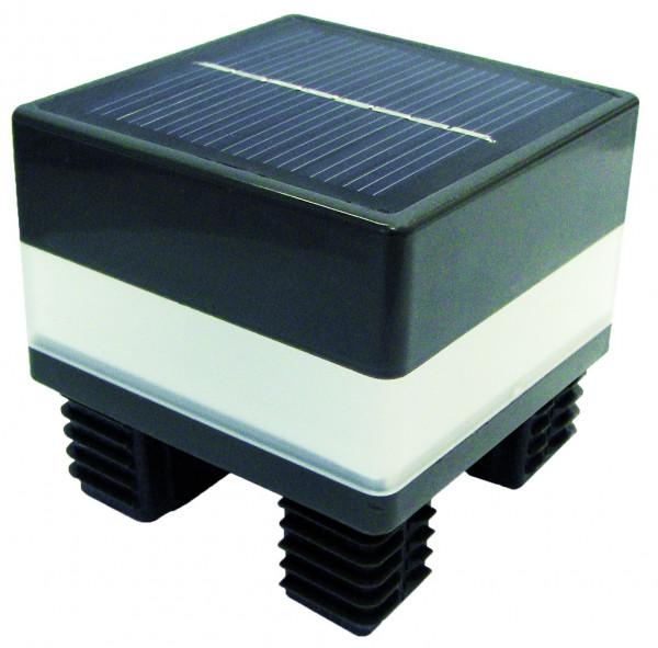 GOTLAND-Serie WPC-Steckzaunsystem LED-Solarpfostenkappe, 68 x 68 mm