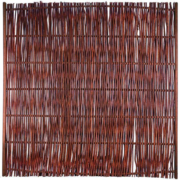 FUEGO Weidengeflechtzaun m.seitl. Rahmen 180 x 180 cm