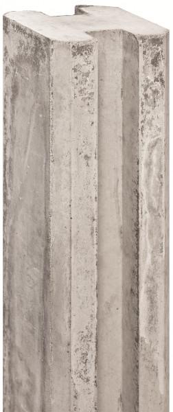 REBUS-Serie Schlitzpfosten 11,5 x 11,5 x 280 cm, weißgrau Mittelpfosten f. Beton # 1.54280