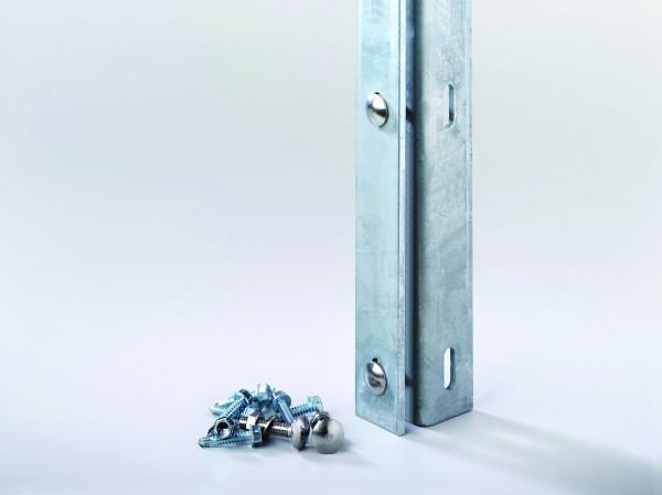 Zaunanschlußleiste RAL 7016 anthrazit für Torpfosten per lfdm. inkl. Schrauben