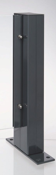 TEJEFLEX Aluminiumpfosten 58/92 x 1270 mm, RAL 7016 anthrazit zum Anschrauben, inkl. Pfostenkappe #8