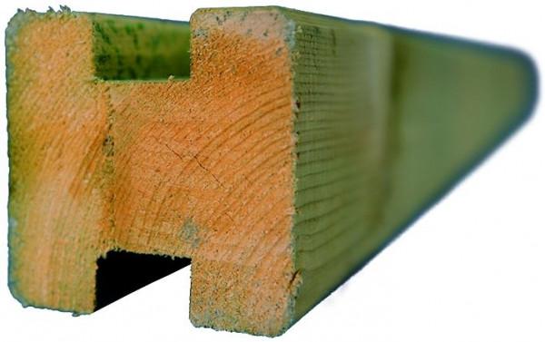 TRELLEBORG-System Verbindungspfosten, grün 9 x 9 x 210 cm, H-Pfosten