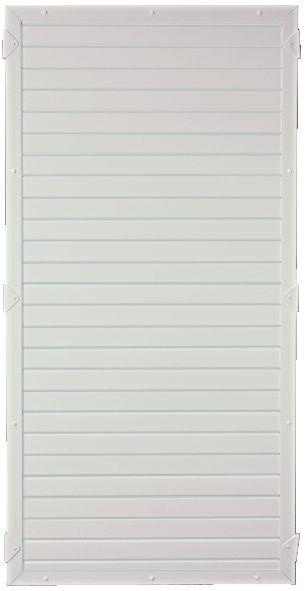 LIGHTLINE KS-Zaunelement 90 x 180 cm Füllung weiß / Rahmen weiß