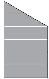 VETRO Glasscheibe ECKE rechts B 1030 x H 1800/1200 mm Streifen-Dekor 82, SATINATO #68209