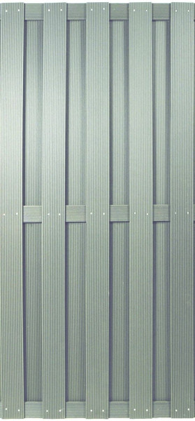 SHANGHAI-Serie silbergrau 90 x 180 cm, WPC-Bretterzaun # KE110