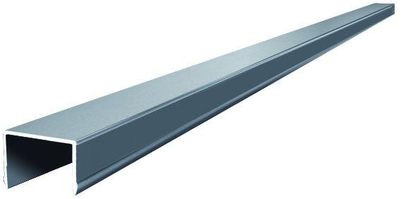 JILIN-Serie Alu-Abschlussprofil 180 cm, für WPC-Vorgartenzaun, 42 x 49 mm #KE96