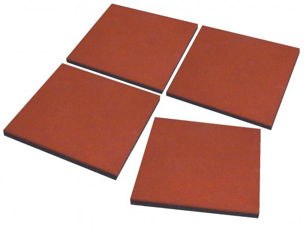 Fallschutzplatten 50 x 50 x 2,5 cm rotbraun