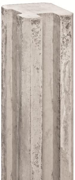 REBUS-Serie Schlitzpfosten 11,5 x 11,5 x 280 cm, weißgrau Eckpfosten f. Beton/Holz # 1.54280H