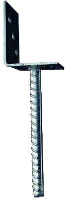 L-Pfostenträger mit Riffelstahldolle feuerverzinkt, für Pfosten 9 x 9 cm (17630 L-Edelstahl packen )