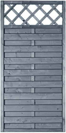 MOONLINE-Serie RANKI 90 x 180 cm Rahmen 45 x 45 mm, grau lasiert