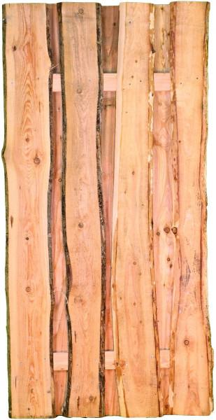 JÜTLAND-Serie Lärche, 90 x 180 cm Bretter sägerau, mit Baumkante ca. 20mm, Riegel 30/80 mm
