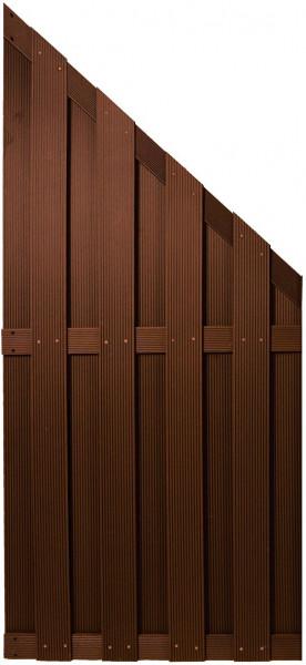 SHANGHAI-Serie ECKE braun 90 x 180/90 cm, WPC-Bretterzaun #KE15