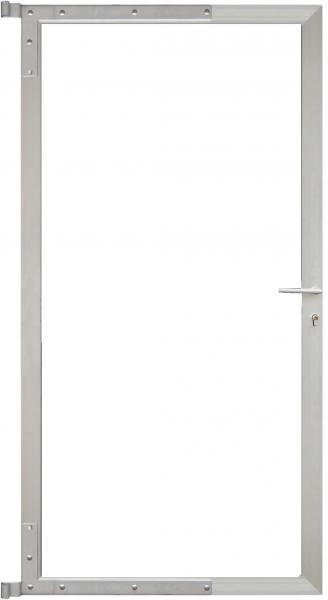 Universal-Torrahmen für Steckzaunserien SILBER, 90 x 175 cm, Bausatz o. Füllung inkl. Beschlägen, ka