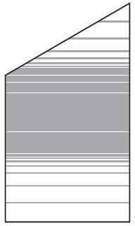 VETRO Glasscheibe ECKE links B 1030 x H 1200/1800 mm Streifen-Dekor 83, SATINATO #68308