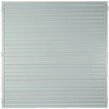 LIGHTLINE KS-Zaunelement 180 x 180 cm Füllung / Rahmen SILBERGRAU #PL180180_g