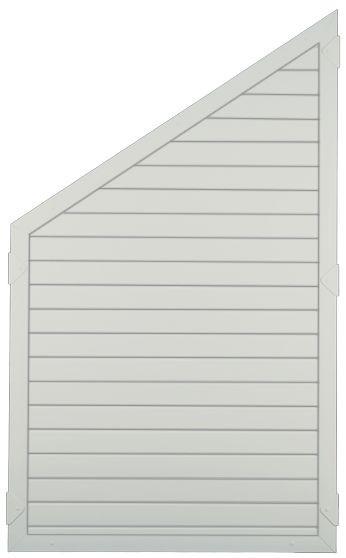 LIGHTLINE KS-Zaunelement ECKE 90 x 150/90 cm Füllung weiß / Rahmen weiß